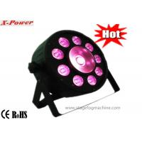 High-Brightness Led Par Can Lights With 9 pcs * 3 in 1 RGB  with1 Pcs Cob  PL - 72 Manufactures