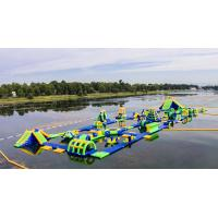 Inflatable Floating Water Sports Theme Park / Water Splash Park Installed In Milano Manufactures
