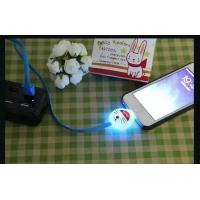 Micro USB Data Sync LED Light Cartoon Charger Cable For Samsung & Android Phones