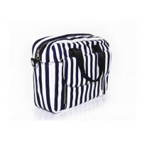 Custom Canvas Washable Shoulder Bag Shoulder Sling Bag Crossbody Black And White Stripes Manufactures