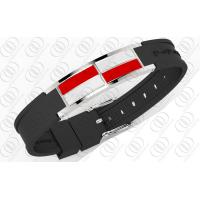 White and Red Enamel Stainless Steel Bracelets Manufactures