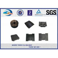 China Railway Track Pad Plastic And Rubber Part EVA HDPE Black Surface on sale