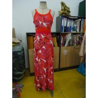 Beautiful Womens Summer Maxi Dresses Single Jersey Maxi Dress Coral Abstract Printing Manufactures