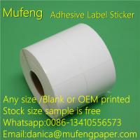 China Thermal Transfer Label Adhesive Sticker Roll 25mm Paper Core OEM Printed Color on sale