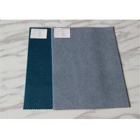Diffrent Pure Colors Double Sided Wool Fabric , 100% Wool Coating Fabric 150CM Width Manufactures