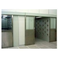 Auto Sliding Door Air Shower Booth With Powder Coated Wall / DC Motor Manufactures