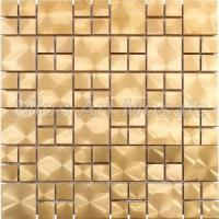 Gold Color Metal Mosaic Tile for Kitchen Backsplash, Bathroom Decoration A6ym006 Manufactures