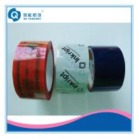 China Custom Printed Packing Tape , White / Blue Tamper Evident Security Tape on sale