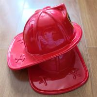 Red Fire Chief Hats with Blue Shield - Medium Size Manufactures