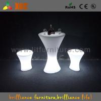 Outdoor / Indoor  LED Bar Tables with glass top / lithium battery Manufactures