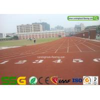 Weather Resistant Synthetic Running Track Flooring for School / Rubber Gym Floor Manufactures
