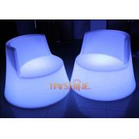 Modern PE Plastic LED Bar Chair For Indoor / Outdoor , LED Garden Furniture Manufactures