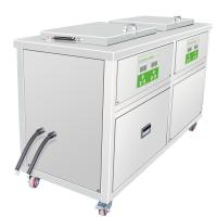 Multi-Stage Ultrasonic Machine 3 Heated Ultrasonic Cleaning Tanks and 1 Drip Tank Manufactures