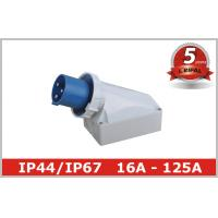 China 125 Ampere IP67 63A Industrial Plugs And Sockets 230V 380V , Surface Mounted on sale