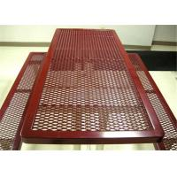 Heavy Duty Expanded Wire Mesh , Steel  Galvanized Expanded Metal Mesh Roll  For BBQ Grill  Small Hole Manufactures