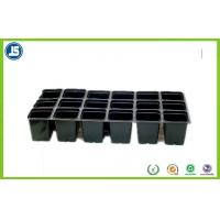 Black Plastic Flower Pot Trays Blister Packaging Tray With QS IS9001 Manufactures