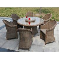 7pcs sofa dining sets round rattan wicker outdoor dining set. Manufactures