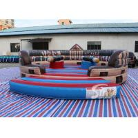 6m Dia. kids N adults ancient inflatable gladiator jousting arena with completely digital printing Manufactures