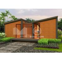 Steel Framed Prefabricated Guest House , Sandwich Wall Panel Prefab Cabin Homes Manufactures