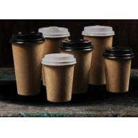 Food Grade Heat Resistance Brown Paper Coffee Cups Recyclable Single Wall 8oz 12oz Manufactures