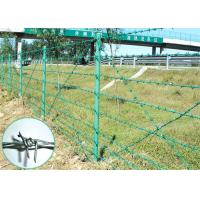 China 25KG 400M PVC Coated Barbed Wire Fence Wire Mesh Fence 1.6mm - 2.8mm Dia on sale