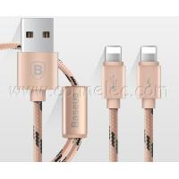 Brand new and original BASEUS 2 in 1 Iphone lightning USB cable with package, BASEUS USB cable Manufactures