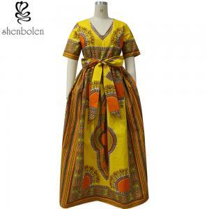 Modern African Print Dresses Dashiki For Elegant V - Neck Classical Print Sleeveless Manufactures