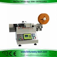 Quality Automatic cutting machine for trademark washed mark cutting machine weaving label cutting machine printed label for sale