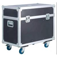 Orange Aluminum tool flight case with wheels for Stage Sound Manufactures
