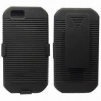 Rubberized Belt Clip Combo Holster Case for Motorola Nextel I1x, Made of Plastic Manufactures