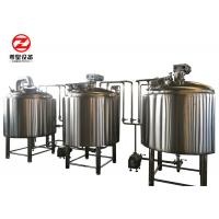 7 Bbl Commercial Mini Micro Beer Brewing Equipment 2 / 3 / 4 Vessels CIP Cleaning Manufactures