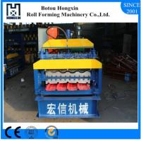 Steel Double Layer Roll Forming Machine , Electrical Motor Roofing Sheets Machine Manufactures