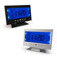 China Sound Control Multi Functional Color Screen Digital LED Calendar Weather Hygrometer Thermometer Display Clock on sale