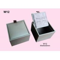 China White Fancy Paper Wrapped Wooden Cufflink Box, Gift Packaging Boxes Customized on sale