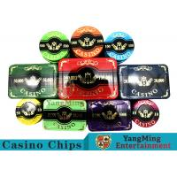 New Design Bronzing Engraved Poker Set With Special Acrylic Materials Manufactures