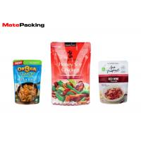 Mylar Retort Pouch Bag Hot Filling Custom Printing For Cooked Food Packaging Manufactures