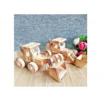 China Decoration Wooden Crafted Gifts Car Model Wood Bulldozer Craft Gift on sale