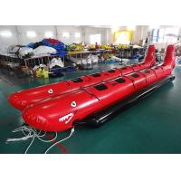 10 Passenger In-Line Red Shark Towable Inflatable Banana Boat For Sale Beach Toy Manufactures