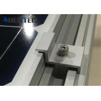 Aluminium Solar Roof Mounting Systems PV End Clamp Customized Dimensions Manufactures