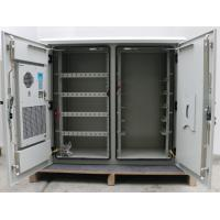 Two Compartment 24U Outdoor Wall Mounted Cabinet , Outdoor Telecom Enclosure With Heat Exchanger Manufactures