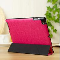 Quality Thin Flip Apple Leather Case Stand For iPad 5 / iPad Air Protective In Red for sale