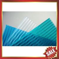 China PC sun sheet,hollow polycarbonate sheet,pc roof panel,twin-wall pc sheet,great roof cover for construction project! on sale