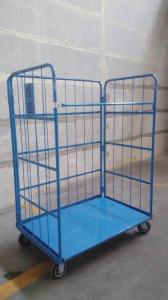 China Supermarket Steel Q235 500KGS Capacity Roll Cage Containers on sale
