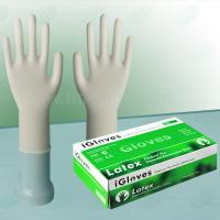 Disposable dental examination latex glove for dental use, powder free white disposable dentist latex gloves Manufactures