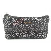 """Silver Leopard Zipper Cosmetic Bags , Small Cosmetic Pouch 9""""X4.5""""X1.5"""" Manufactures"""