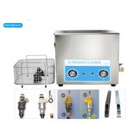 Analog Control Ultrasonic Parts Cleaner , 22L Ultrasonic Fuel Injector Cleaning Machine Manufactures
