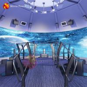 China Customized room size 4D 5D theater 360 degree screen rotating platform orbit cinema on sale
