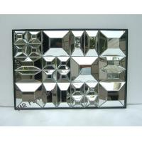 Beveled Edge Mirror Wall Decor, Gold Wooden Trimming Unique Wall Mirrors Manufactures