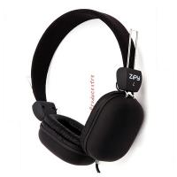Universal square ear cover Sport MP3 Wired Headphone for music and PC Computer game in black Manufactures