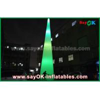 China Outdoor LED Light Grounding Decoration Inflatable Cone For Advertising on sale